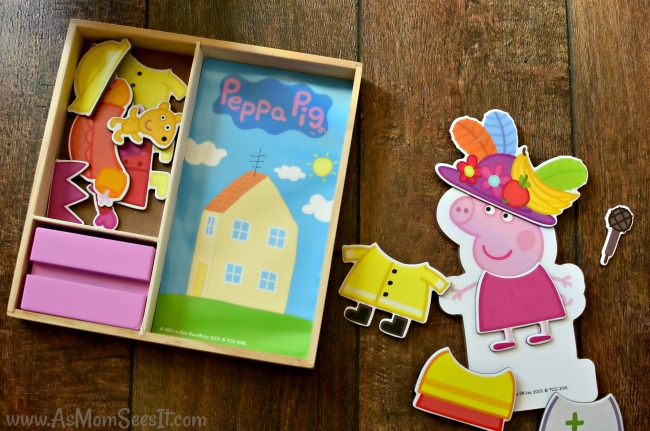 Peppa Pig Magnetic Wood Dress Up Box Set