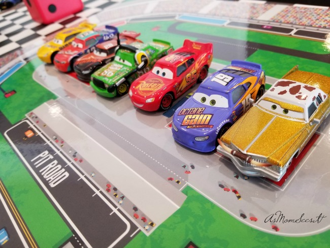 Toy characters from Disney/Pixar's Cars 3