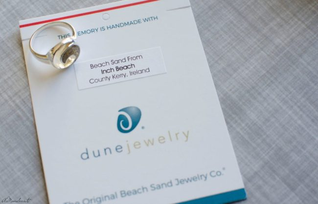 Dune hand makes keepsake sterling silver jewelry made with beach sand from your most cherished coastal memories.