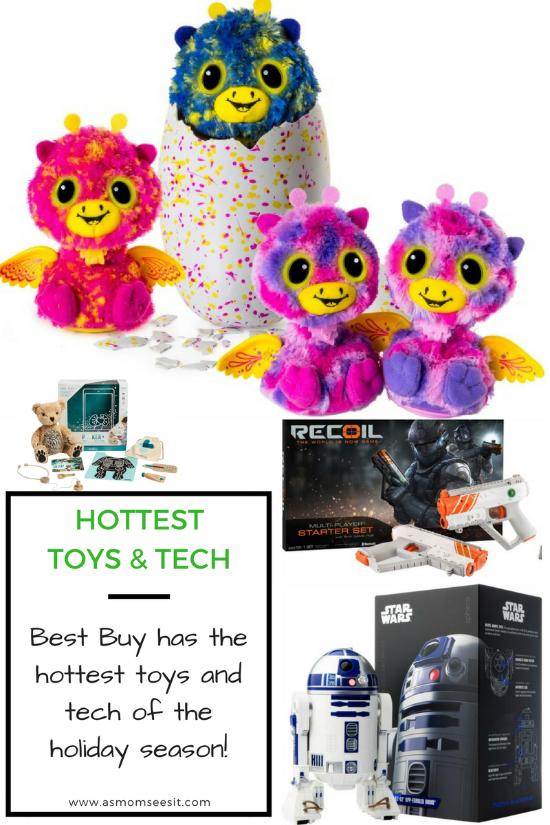 Head to Best Buy for the hottest toys and tech of the holiday season. From Hasbro to Barbie to Lego, they have a huge selection both in store and online. #ad