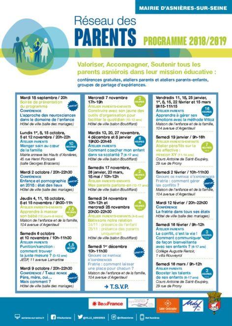 thumbnail of Programme annuel Réseau des Parents ASNIERES