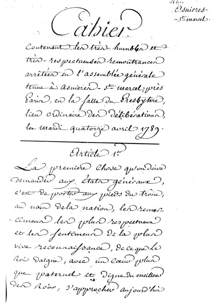 page 1 doléances