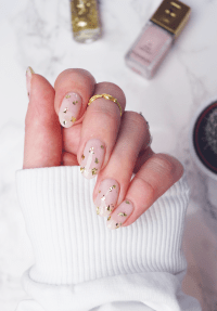 Dainty Gold Leaf Nails  A Snippet of Life