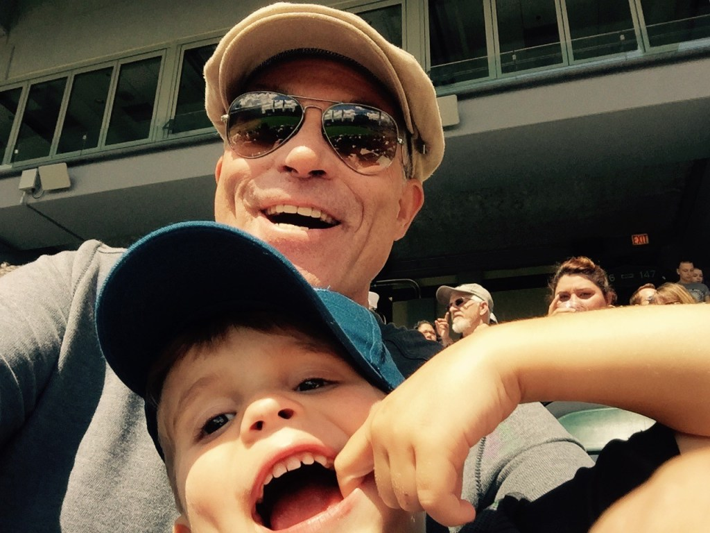 Raynold T. Petrocelli and his grandson smiling in a selfie