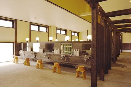 縄文天然温泉志楽の湯洗い場
