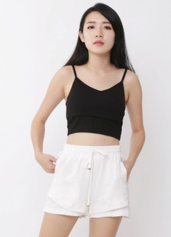 crop top black