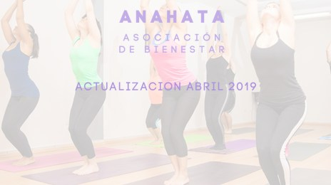 actualización abril 2019 Asociación Anahata