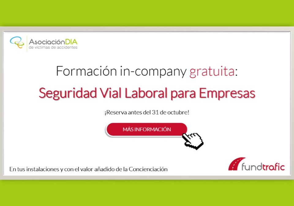 Reserva ya tu formación gratuita en Seguridad Vial Laboral para empresas