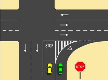 mala señalización-intersección