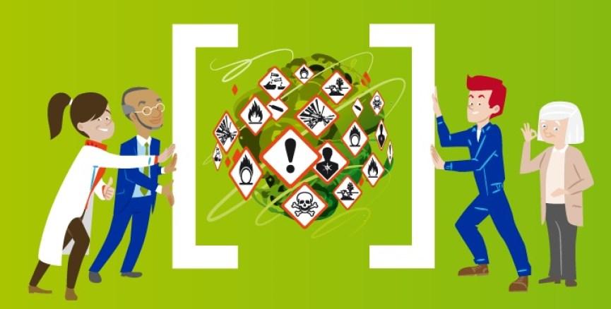 Accidentes laborales con sustancias peligrosas UE-OSHA 2018-2019