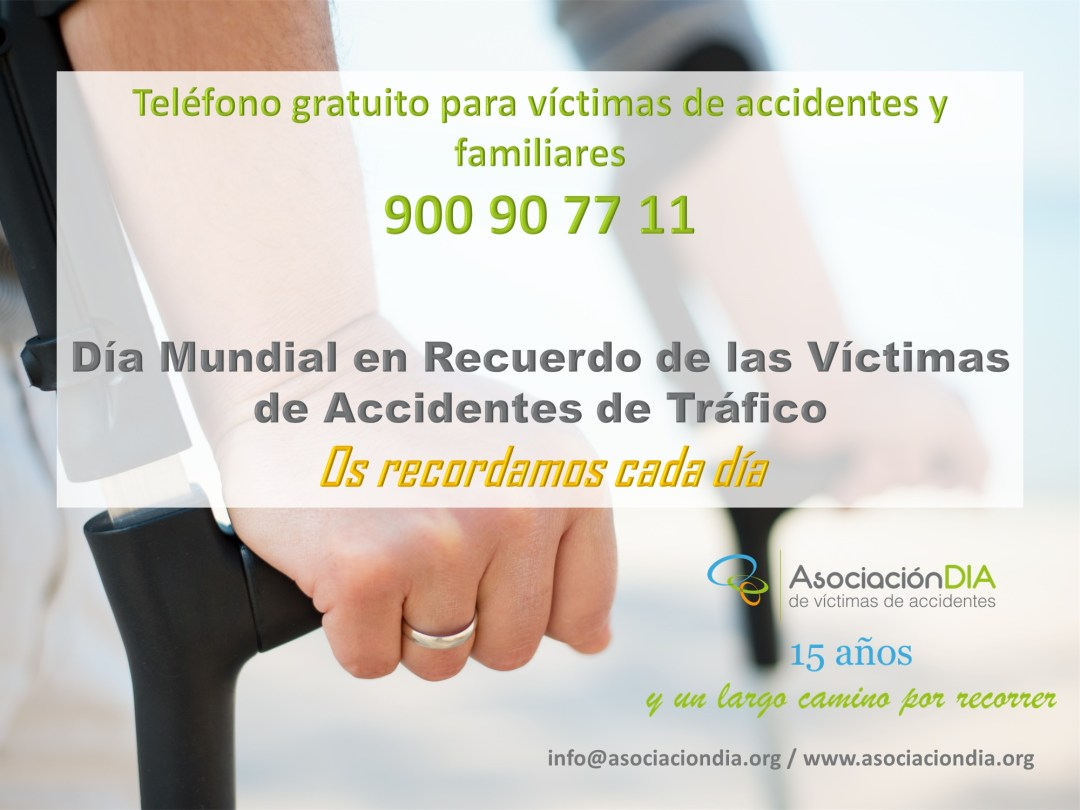 asistencia a víctimas de accidentes Día Mundial Recuerdo Víctimas de Tráfico 2018