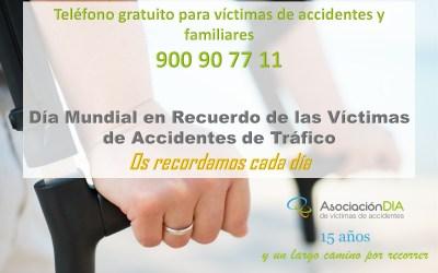 Además de homenajes, las Administraciones deben asegurar prevención y asistencia a víctimas de accidentes