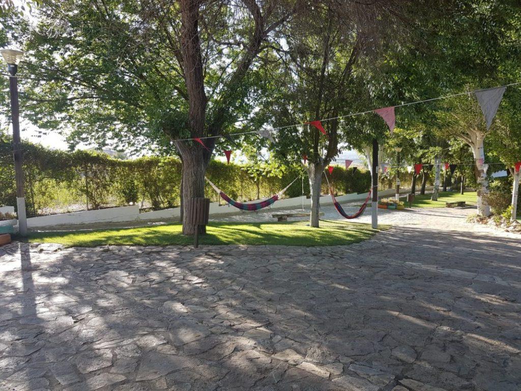 Zona de hamacas y relax del  VI Foro Andaluz de Galms