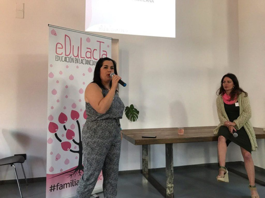 Ruth Gimenez y Pilar Martinez en la I jornada de lactancia materna de Edulacta