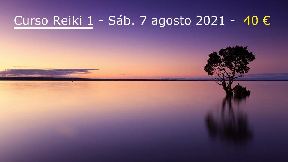 Curso Reiki 1 el 7 agosto 2021