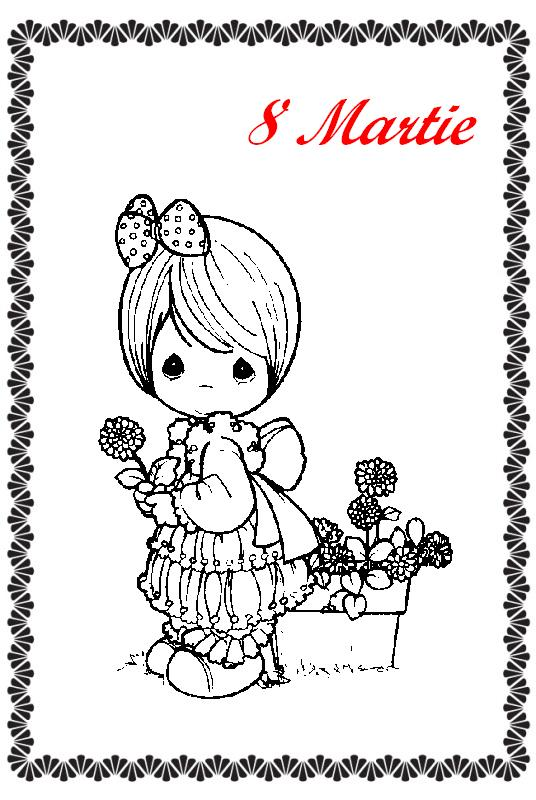 Felicitari si planse de colorat de 8 Martie Ziua Mamei