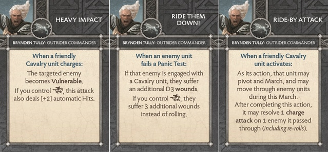 Brynden Tully - Outrider Commander - Cards