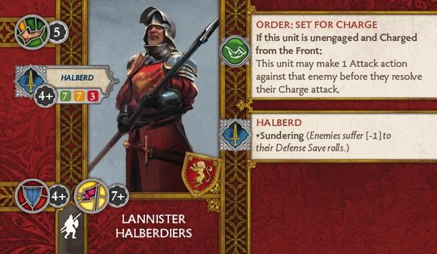 Lannister Halberdiers Back