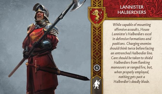 Lannister Halberdiers Front