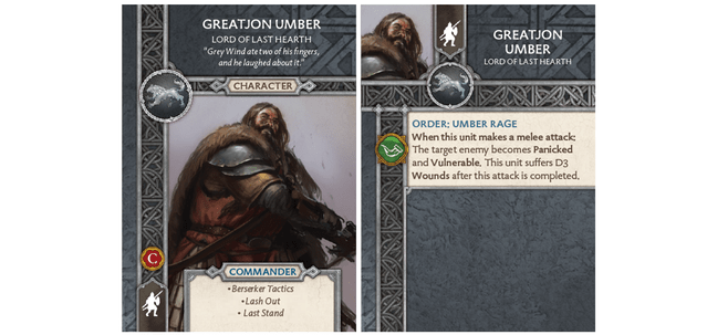 Greatjon Umber - Lord of Last Hearth Card