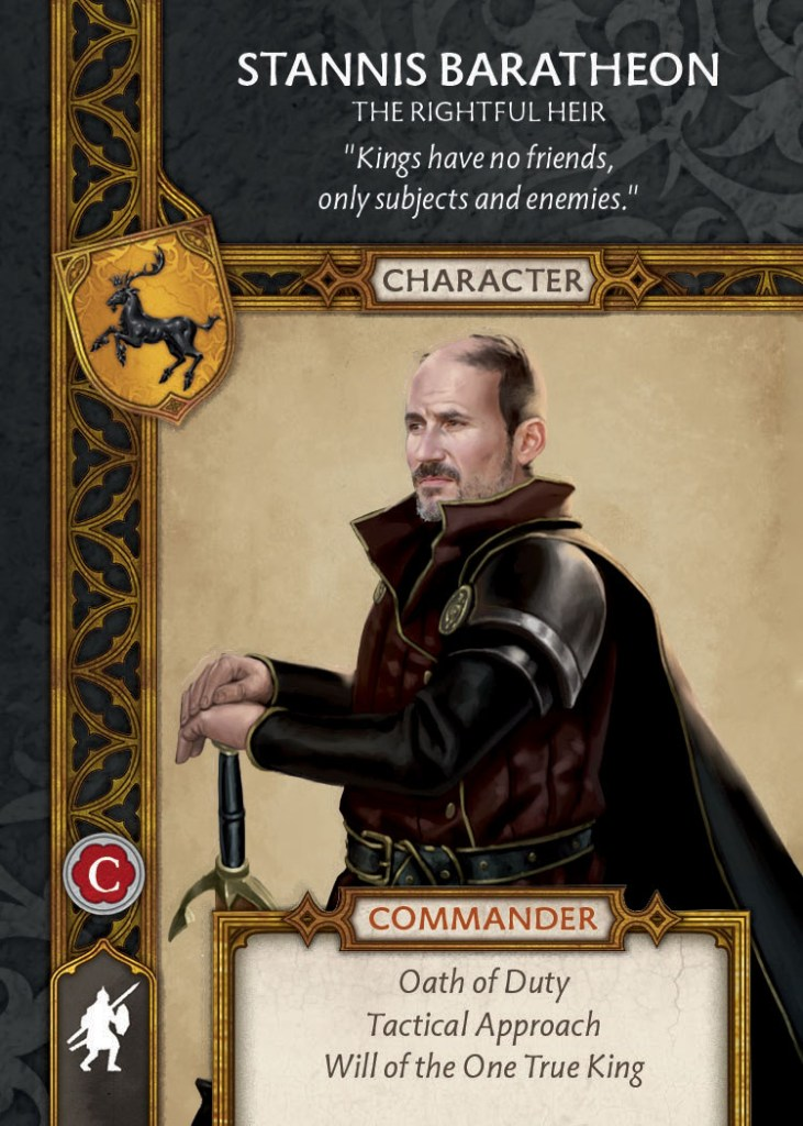 Stannis Baratheon Commander Card