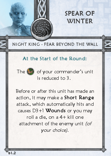 Others Tactics Card - Spear of Winter