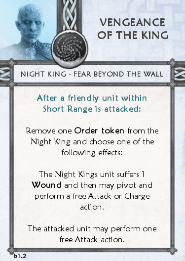 Others Tactics Card - Vengence of the King