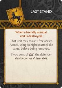 Baratheon Tactics Card Last Stand