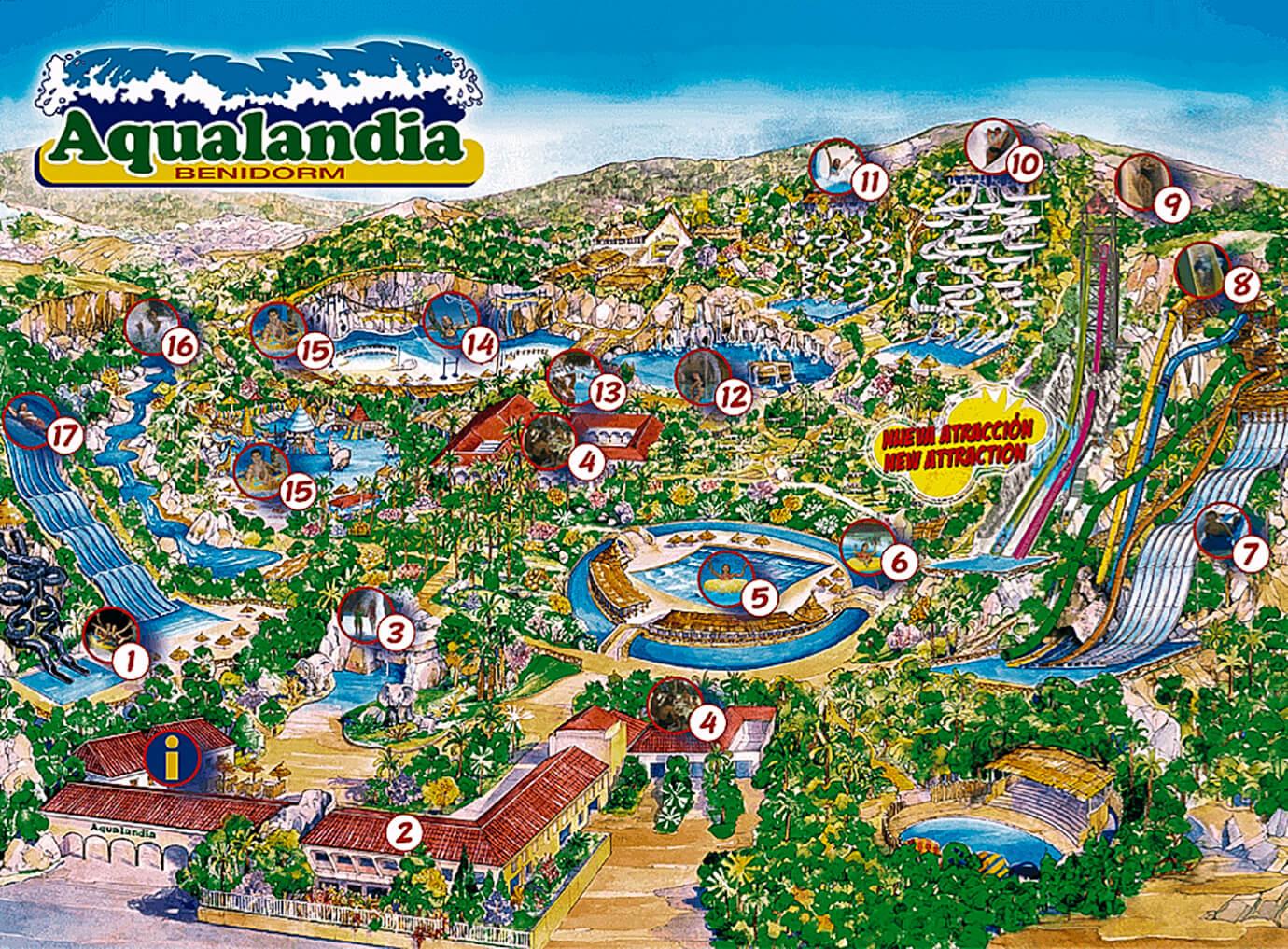Aqualandia, Waterpark, pretpark, Costa-Blanca, Casa-Asombrosa