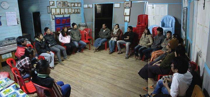 Knowledge sharing circle with local youth communities in Thuklai.