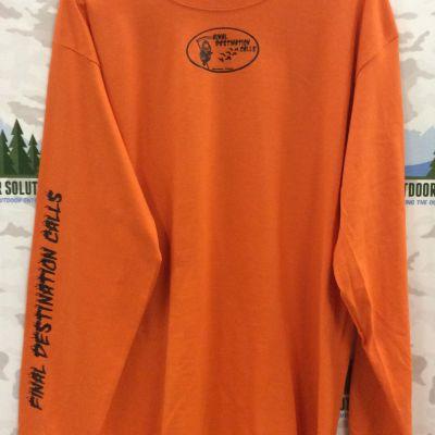Burnt Orange Long Sleeve Tee with Black Logo from Final Destination