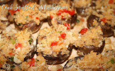 Easy Crab Stuffed Mushrooms