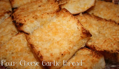 Four Cheese Garlic Bread: Mouthwatering Monday