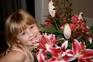 princess and flowers