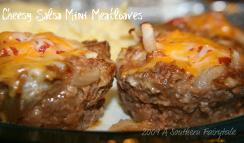 Cheesy Salsa Mini Meatloaves