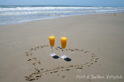 Mimosas on the beach