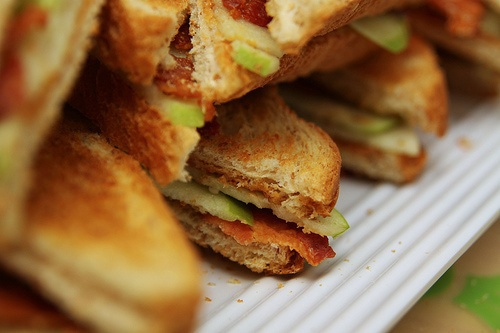 Peanut Butter, Apple, Honey and Bacon Sandwiches