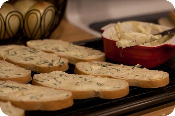 Buttered Garlic Rosemary Bread