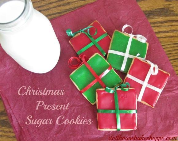 Christmas Present Sugar Cookies