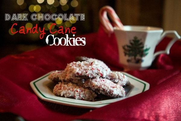 Dark Chocolate Dipped Candy Cane Christmas Cookies
