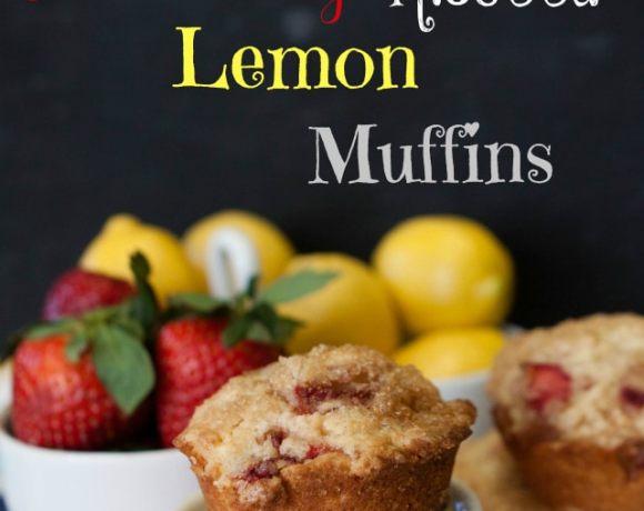Bakery Style Strawberry, Lemon, Ricotta Muffins