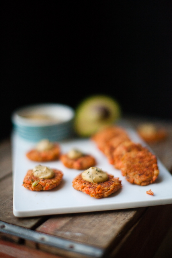 Salmon Patties with Avocado
