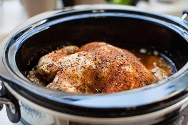 Slow Cooker {Roasted} Chicken