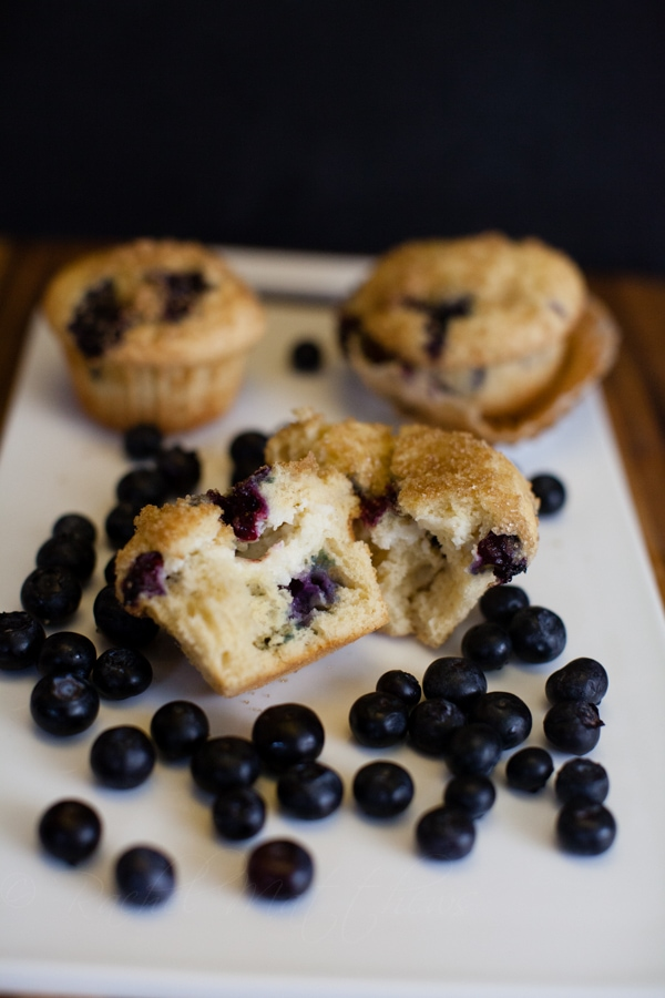 blueberry muffins with a cheesecake center