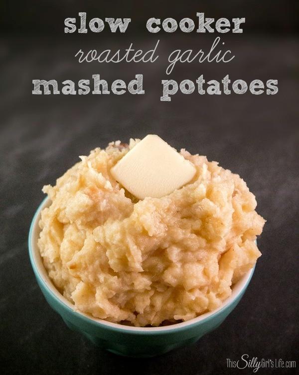 slow cooker roasted garlic mashed potatoes