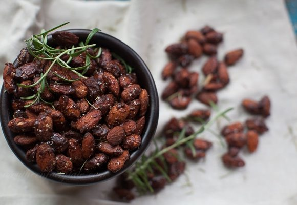 Honey Chipotle Glazed Spiced Almonds