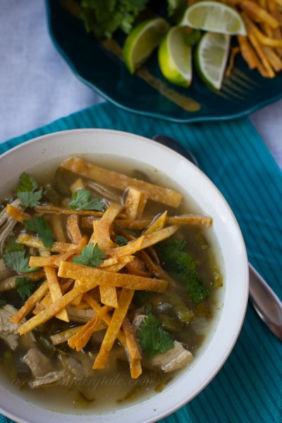 easy and delicious healthy chicken poblano soup