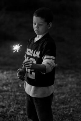 black and white sparkler