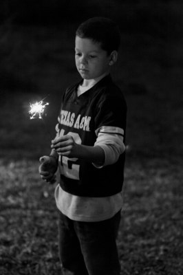 black and white sparkler
