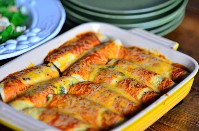 reluctant entertainer's butternut squash enchiladas